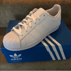 Brand New All White Adidas Sneakers!